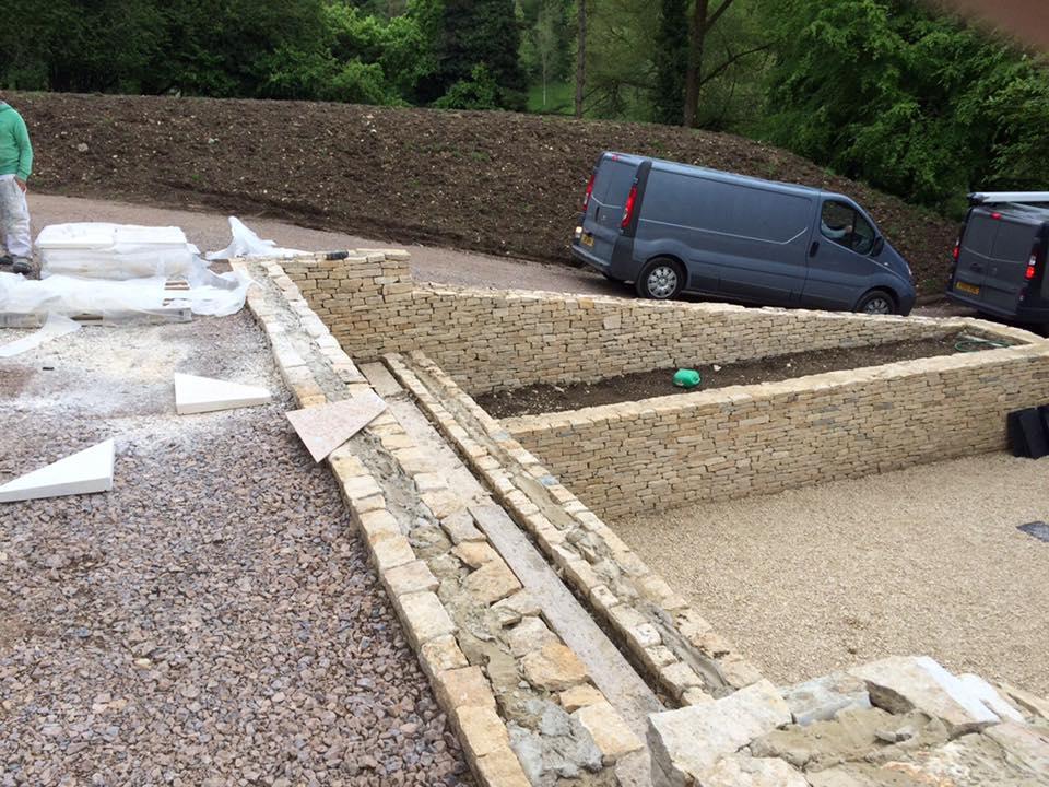 Landscaping in progress in Stroud by Precision Builders