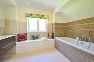 A new bathroom created by Precision Builders in a house in Gloucestershire