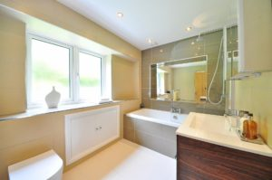 A new bathroom created by Precision Builders in a house in Cheltenham