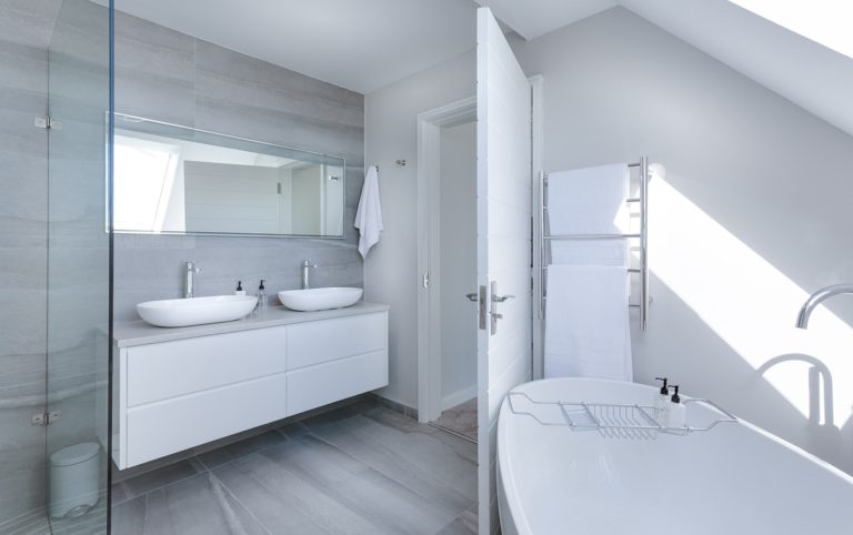 A new bathroom created by Precision Builders in a house in Gloucester