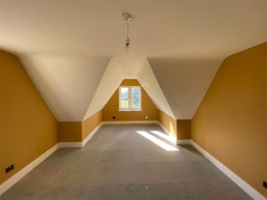 Loft conversion created by Precision Builders in Gloucestershire