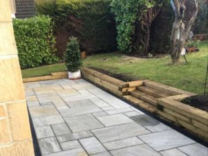 Landscaping project completed by Precision Builders in Cirencester