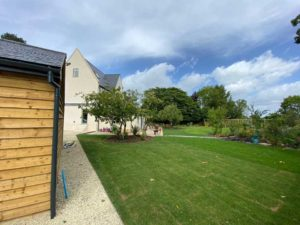 Landscaping project completed by Precision Builders in the Cotswolds