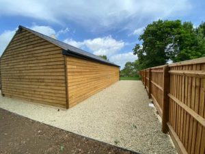 Landscaping project completed by Precision Builders in Gloucestershire