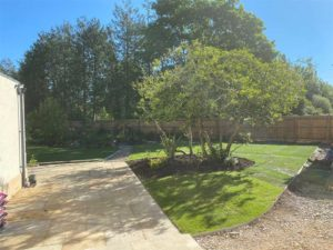 Landscaping project completed by Precision Builders in Gloucester