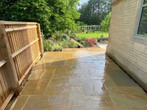 Patio job in the Cotswolds completed by Precision Builders