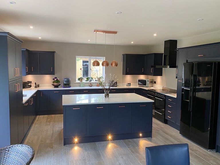 Kitchen installation in the Cotswolds by Precision Builders Ltd