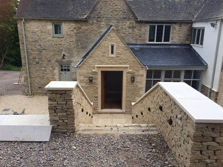 A landscaped garden in the Cotswolds created by Precision Builders Ltd