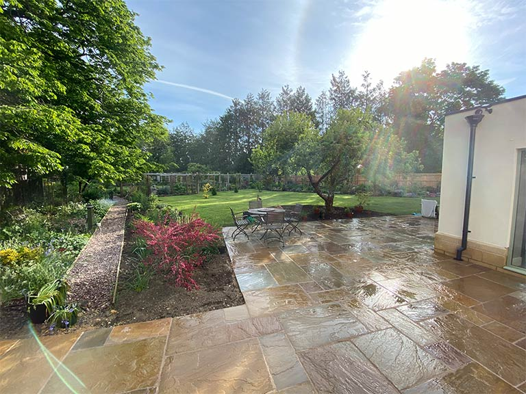 Landscaping job in the Cotswolds completed by Precision Builders